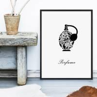 Design-Poster 'Parfüm' 30x40 cm schwarz-weiss Mode Dekoration – Bild 4