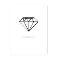 Design-Poster 'Diamant' 30x40 cm schwarz-weiss Grafik Abstrakt – Bild 2