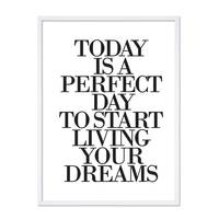 Design-Poster 'Today is a perfect Day' 30x40 cm Typographie Spruch – Bild 5