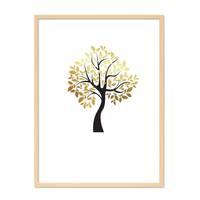 Design-Poster 'Der goldene Baum' 30x40 cm in Schwarz-Gold Natur – Bild 6