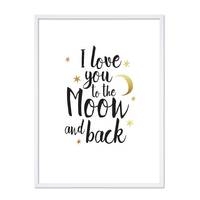 Design-Poster 'I love you to the Moon' 30x40 cm mit Goldaufdruck – Bild 5