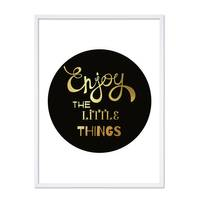 Design-Poster 'Enjoy the little Things' 30x40 cm mit Goldaufdruck – Bild 5