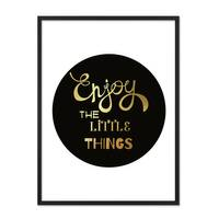 Design-Poster 'Enjoy the little Things' 30x40 cm mit Goldaufdruck – Bild 4