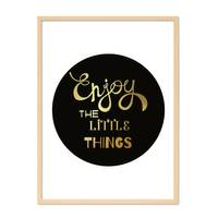 Design-Poster 'Enjoy the little Things' 30x40 cm mit Goldaufdruck – Bild 6