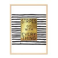 Design-Poster 'Stripes go with Everything' 30x40 cm Gold Spruch – Bild 6