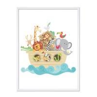 Poster 'Noahs Arche' 30x40 cm Kinderposter Tiere Lernposter Bunt – Bild 5