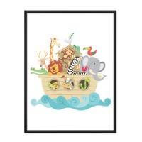 Poster 'Noahs Arche' 30x40 cm Kinderposter Tiere Lernposter Bunt – Bild 3