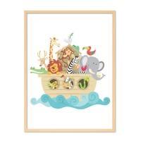 Poster 'Noahs Arche' 30x40 cm Kinderposter Tiere Lernposter Bunt – Bild 6