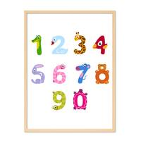 Poster 'Ziffern' 30x40 cm Kinderposter Zahlen Lernposter Bunt – Bild 6