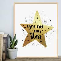 Design-Poster 'You are my Star' 40x50 cm mit Goldaufdruck Spruch – Bild 6