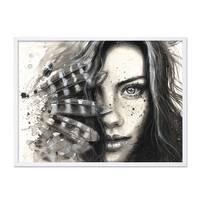 Design-Poster 'Face' 30x40 cm schwarz-weiss Motiv Frau Porträt – Bild 5