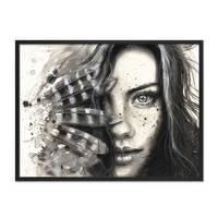Design-Poster 'Face' 30x40 cm schwarz-weiss Motiv Frau Porträt – Bild 3