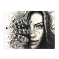 Design-Poster 'Face' 30x40 cm schwarz-weiss Motiv Frau Porträt – Bild 2