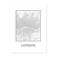 Poster 'London Karte' 30x40 cm schwarz-weiss Natur Map England – Bild 2