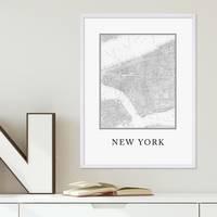 Poster 'New York Karte' 30x40 cm schwarz-weiss Stadtkarte Map – Bild 5