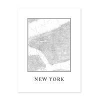 Poster 'New York Karte' 30x40 cm schwarz-weiss Stadtkarte Map – Bild 2