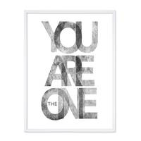 Design-Poster 'You are the One' 30x40 cm schwarz-weiss Typographie – Bild 4