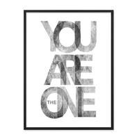 Design-Poster 'You are the One' 30x40 cm schwarz-weiss Typographie – Bild 3