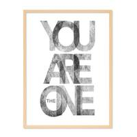 Design-Poster 'You are the One' 30x40 cm schwarz-weiss Typographie – Bild 6