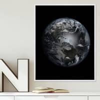 Poster Erde 40x50 cm Motiv Welt Weltraum Satellitenbild