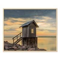 Poster 'Hütte' 40x50 cm Natur Landschaft Foto Sonnenuntergang – Bild 5