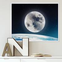 Poster Nightly Sky 40x50 cm Motiv Welt Mond Erde All