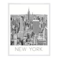 Poster 'New York' 40x50 cm schwarz-weiss Motiv Manhatten Skyline  – Bild 4