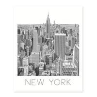 Poster 'New York' 40x50 cm schwarz-weiss Motiv Manhatten Skyline  – Bild 2