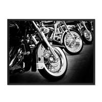Poster 'Bikes' 30x40 cm schwarz-weiss Motiv Motorrad Foto Chrom – Bild 3