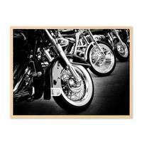 Poster 'Bikes' 30x40 cm schwarz-weiss Motiv Motorrad Foto Chrom – Bild 5