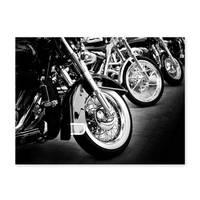 Poster 'Bikes' 30x40 cm schwarz-weiss Motiv Motorrad Foto Chrom – Bild 2