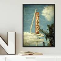 Poster Sign 30x40 cm Motiv Fun Zeichen Vintage Schild