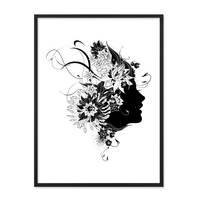 Design-Poster 'Frau Abstrakt' 30x40 cm schwarz-weiss Mode Fashion – Bild 3