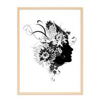 Design-Poster 'Frau Abstrakt' 30x40 cm schwarz-weiss Mode Fashion – Bild 6