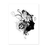 Design-Poster 'Frau Abstrakt' 30x40 cm schwarz-weiss Mode Fashion – Bild 2