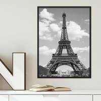 Poster 'Eiffelturm' 30x40 cm schwarz-weiss Foto Paris Skyline – Bild 4