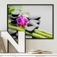 Poster Spa 30x40 cm Motiv Wellness Zen Steine Foto