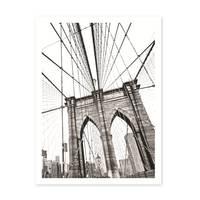 Poster 'Bridge' 30x40 cm schwarz-weiss Motiv Brücke Zeichnung – Bild 2