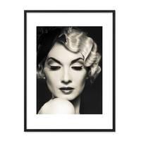 Poster 'Frau' 30x40 cm schwarz-weiss Motiv Diva Foto Porträt – Bild 3