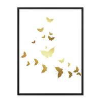 Design-Poster 'Butterflies Gold' 30x40 cm Motiv Schmetterlinge – Bild 4