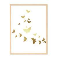 Design-Poster 'Butterflies Gold' 30x40 cm Motiv Schmetterlinge – Bild 6