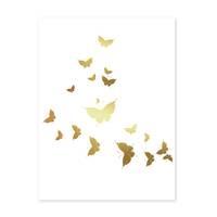 Design-Poster 'Butterflies Gold' 30x40 cm Motiv Schmetterlinge – Bild 2