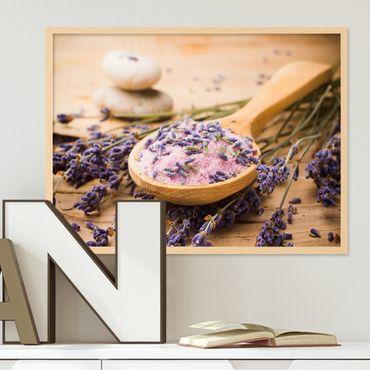 Poster 'Löffel' 30x40 cm Motiv Lavendel Foto Küchenbild Modern