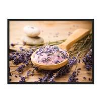 Poster 'Löffel' 30x40 cm Motiv Lavendel Foto Küchenbild Modern – Bild 3