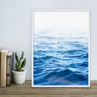 Poster Wasser 30x40 cm Motiv Meer See Welle Natur Foto