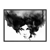Design-Poster 'Frauenkopf' 30x40 cm schwarz-weiss Frau Aquarell – Bild 3