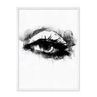 Design-Poster 'Auge' 30x40 cm schwarz-weiss Aquarell Frauenauge – Bild 4