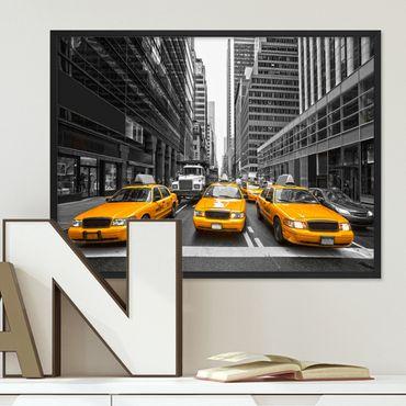 Poster 'Taxi' 30x40 cm Motiv Stadtbild New York City Foto Modern