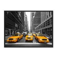 Poster 'Taxi' 30x40 cm Motiv Stadtbild New York City Foto Modern – Bild 3