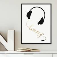 Poster 'Lounge Gold' 30x40 cm Goldaufdruck Design Typographie – Bild 3